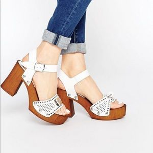 ASOS TRUST Leather Clog Sandals